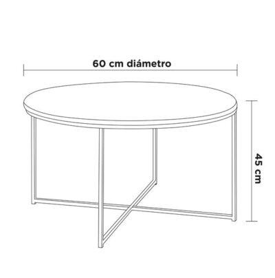 medidas mesa de centro mármol