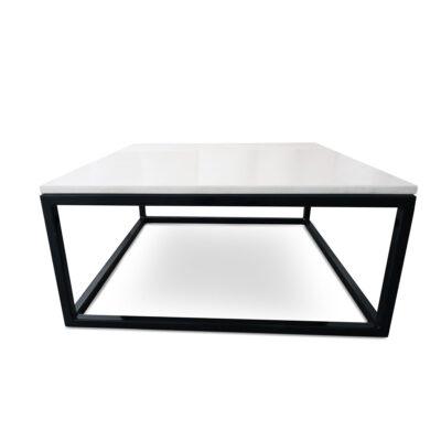 mesa de centro de mármol beige mediterráneo