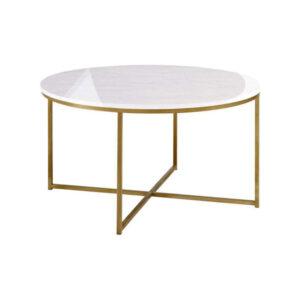 mesa de centro metálica de mármol